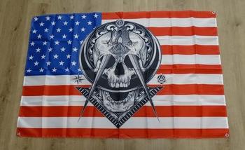 """Amerikaanse vlag """" Doodskop  """""""