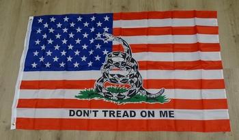 """Amerikaanse vlag """" Don't tread on me  """""""