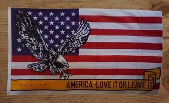 """Amerikaanse vlag """" America - love it or leave it """" Adelaar"""