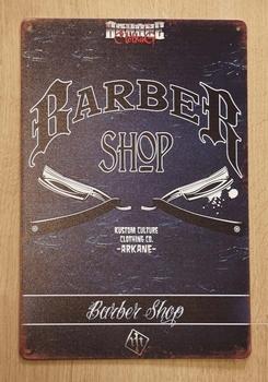 """Billboard  """" Barber shop scheermesjes """""""