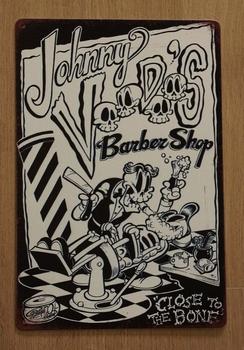 """Billboard  """" Johnny voodes barber shop """""""