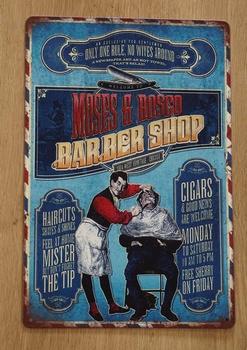 "Billboard  "" Moses & Rosco barber shop """