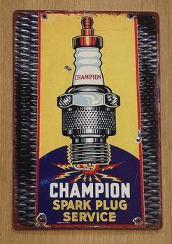 "Billboard  "" Champion spark plug service  """