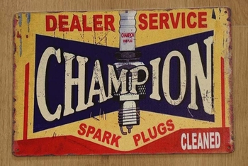 "Billboard  "" Dealer service Champion spark plug """