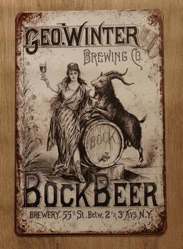 """Billboard  """" Geo winter Bock Beer """""""