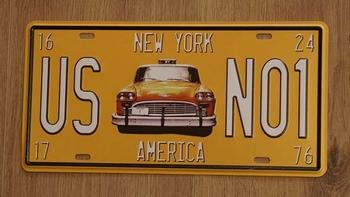 """Amerikaanse kentekenplaat """" US NO1 """" New York America"""