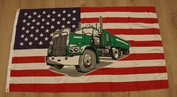 """Amerikaanse vlag """" Vrachtwagen """""""