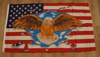 """Amerikaanse vlag """" Adelaar vleugels gespreid """""""