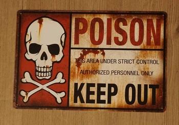 """Billboard """" Poison keep out """"  doodskop"""