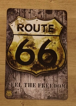"Billboard "" Route 66 feel the freedom """