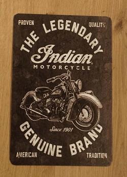 "Billboard "" The legendary indian motorcycle genuine brand"