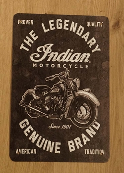 "Billboard "" The legendary indian motorcycle genuine brand"