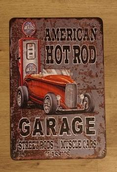 "Billboard  "" American hot rod garage """