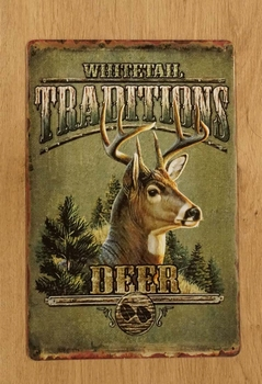 "Billboard  "" Whitetal traditions deer ""  Hert"