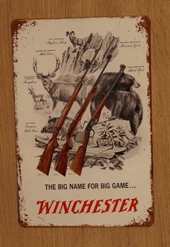 """Billboard  """" The big name for big game ...  Winchester """""""