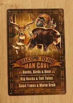 "Billboard  "" Welcome to the man cave bucks, birds & bear """