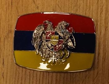 """Buckle  """" Vlag van Roemenië """""""