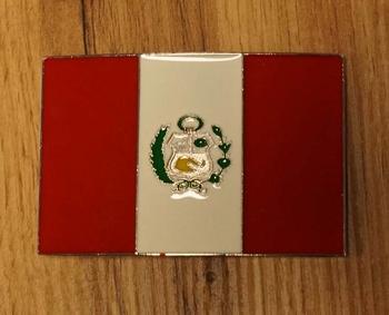 """Buckle  """" Vlag van Peru """""""