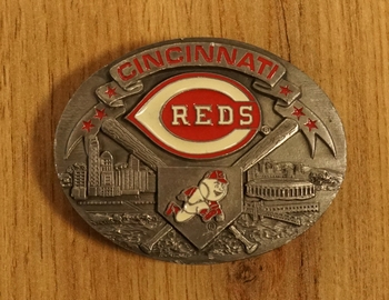 "American football buckle  "" Cincinnati reds """