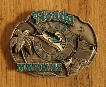 "American football buckle  "" Florida marlins """