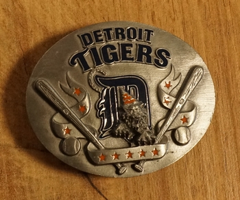 "American football buckle  "" Detroit Tigers """