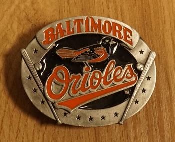"American football buckle  "" Baltimore Orioles """