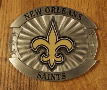 "American football buckle  "" New Orleans saints """