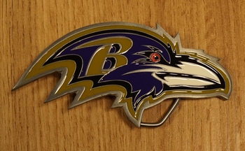 "American football buckle "" Battimore ravens """