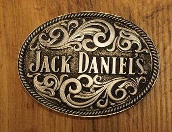 """Sterling zilveren buckle  """" Jack Daniel  """"  bloemenmotieven"""