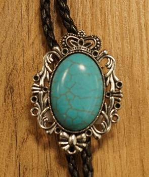 """Bolo tie  """" Bruine steen in sierrand """""""