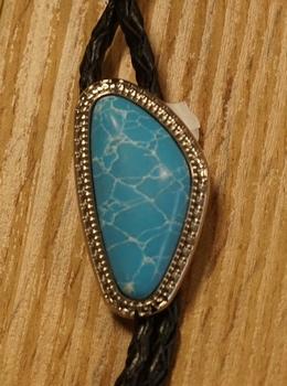"""Bolo tie  """" Turquoise steen in sierrand """""""