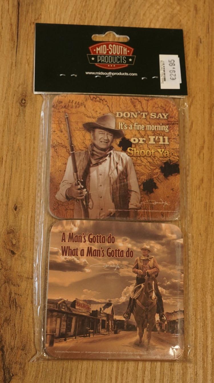 """4 Onderzetters  """"  John Wayne """"  UITVERKOCHT"""