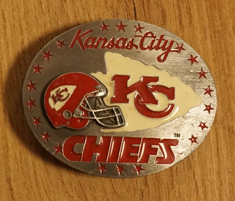 "American football buckle  "" Kansas city chiefs """