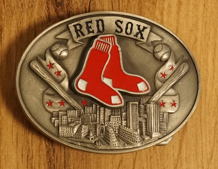 """American football buckle  """" Red sox """""""