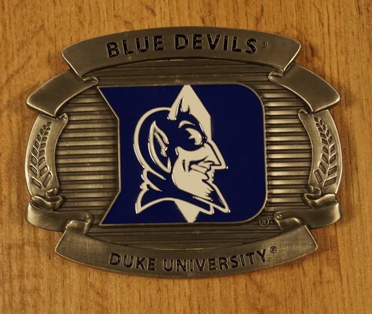 "American football buckle "" Blue devils Duke university """