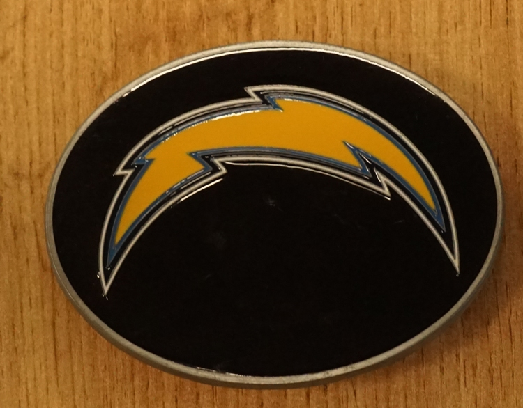 "American football buckle "" Los Angeles Chargers """
