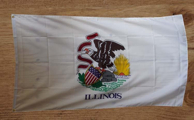 """Amerikaanse Staten vlag """" illonois """""""
