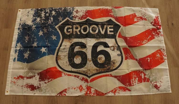 """Amerikaanse vlag  """" Groove 66 """""""