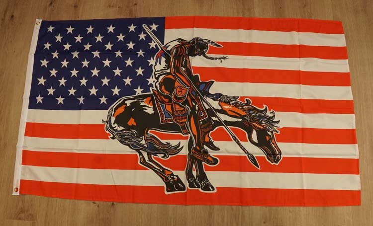 """Amerikaanse vlag """" End of the trail """""""