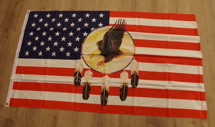 """Amerikaanse vlag met dreamcather en adelaar """""""