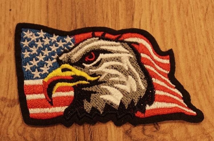 """Applicaties  """" Adelaar op Americaanse vlag """""""