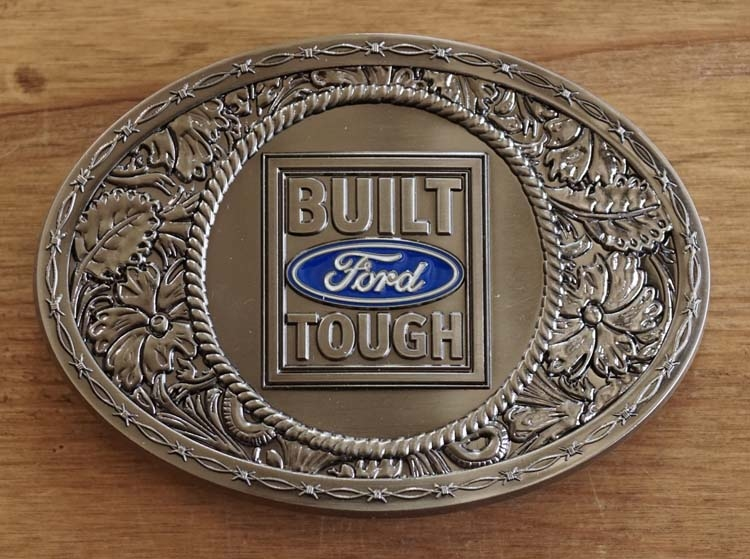 "Automerk buckle  "" Ford Built Tough """