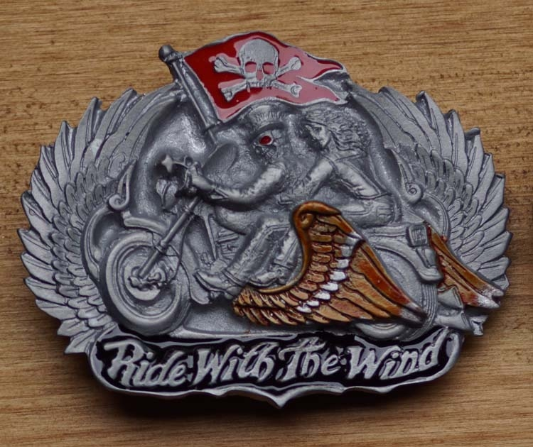 "Belt buckle   "" Ride with the wind """