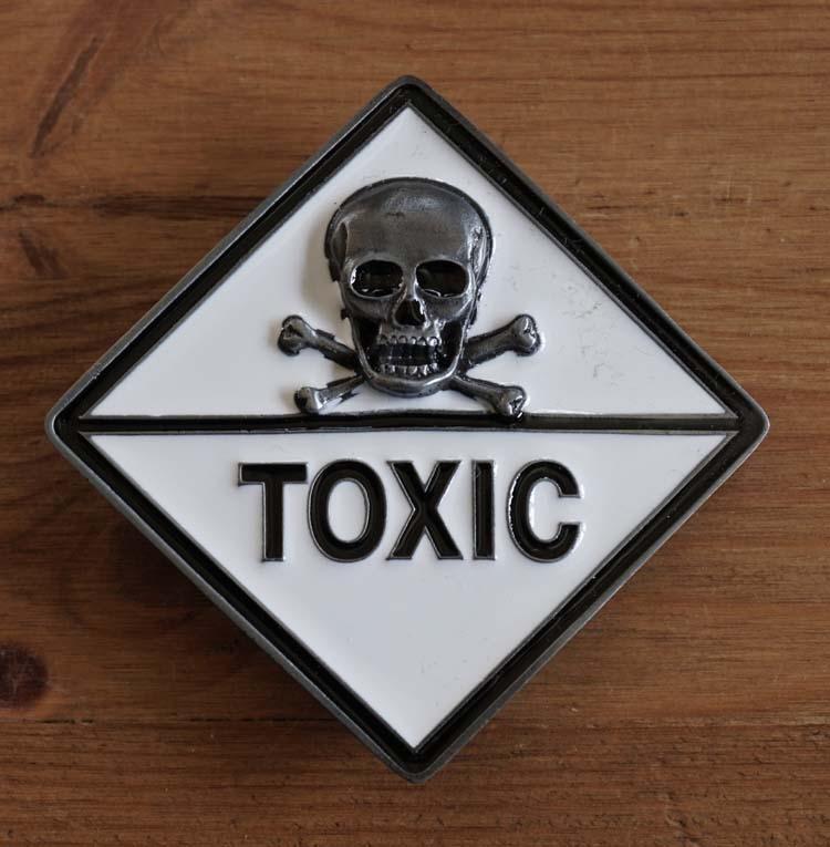 """Belt buckle  """" Doodskop Toxic """""""