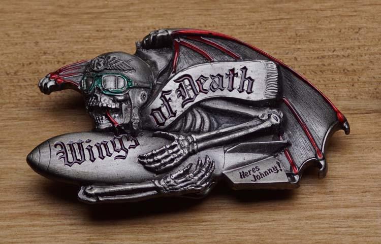 "Belt buckle  "" Wings of Death, heres Johnny ! """