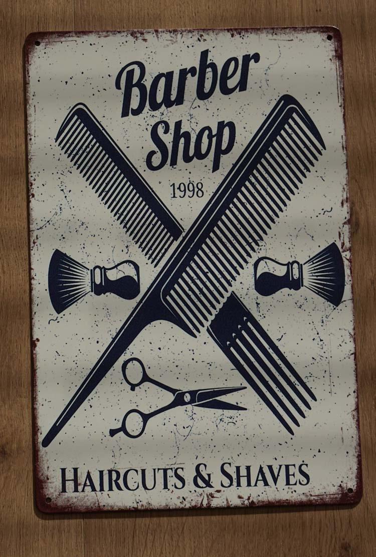 "Billboard  "" Barber shop ""  kammen + kwasten"