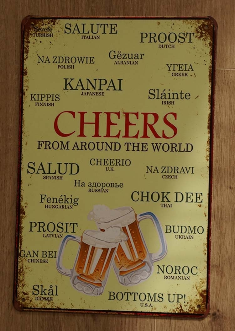 """Billboard  """" Cheers """"  2 bierglazen"""