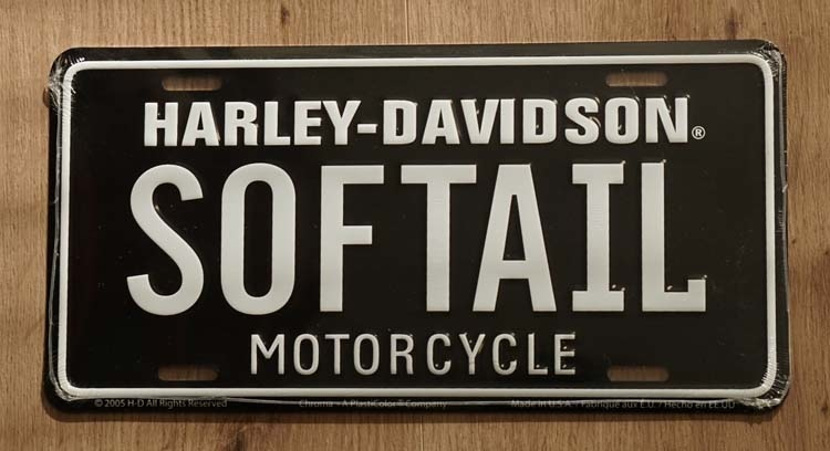 "Billboard  "" Harley Davidson Motorcycles "" Softail"