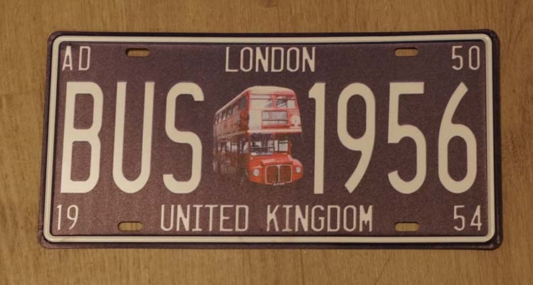 """Billboard  """" London NO2 NO6 United Kingdom """" Dubbeldekker"""