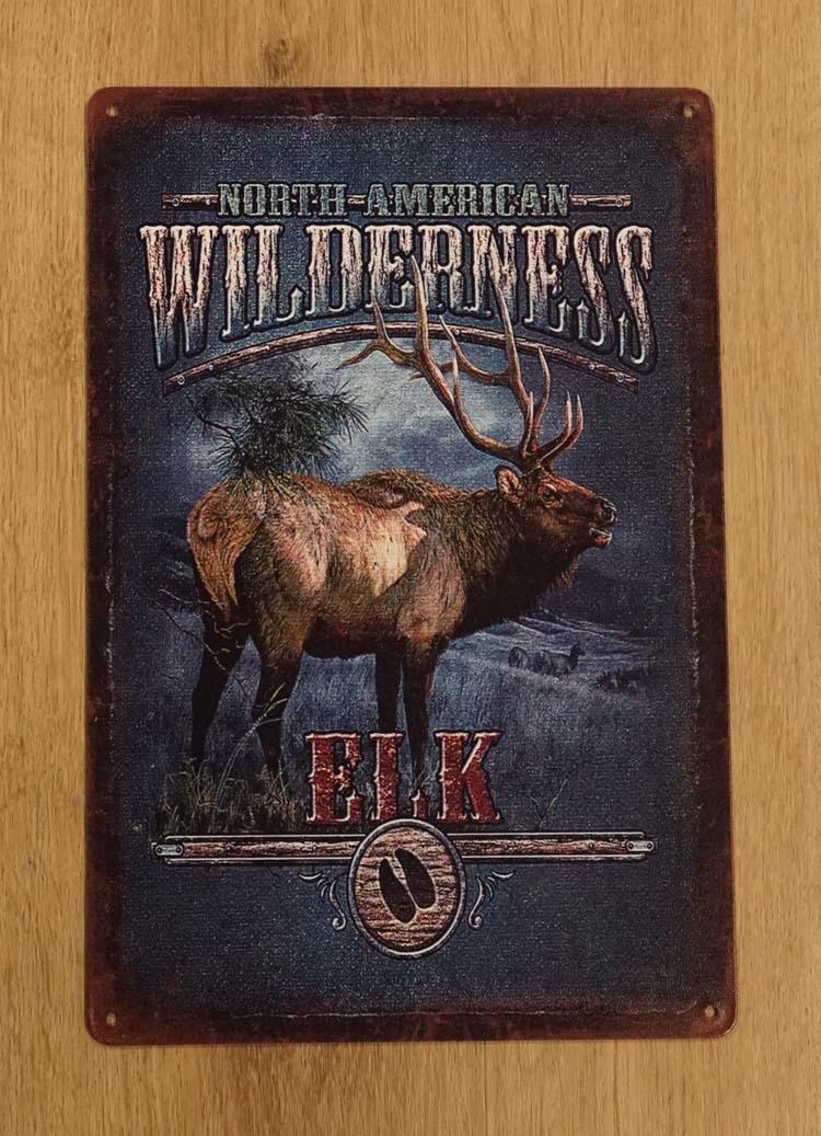 "Billboard  "" North America wilderness elk ""  Wapiti"